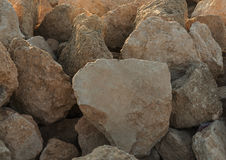 Big stone. Big beige stone over the entire surface Royalty Free Stock Photography