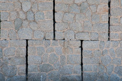 Big stone blocks. Grey wall made of big stone block modules Stock Photo