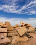 Big Stone Blue Cloud Stock Image