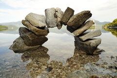 Big stone bow Royalty Free Stock Photos