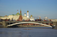 Big Stone Bridge. Moscow Stock Photo