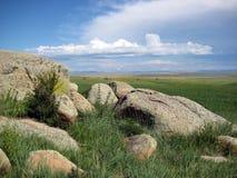 Big stone. Buddhist central, Big stone, blue sky,nature Royalty Free Stock Image