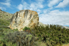 Big stone in Cederberg. Nature reserve, South Africa Stock Image