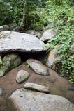 Big stone in chan ta then waterfall at Bang Phra, Sriracha, Chonburi, Thailand. Close up big stone in chan ta then waterfall at Bang Phra, Sriracha, Chonburi royalty free stock photo