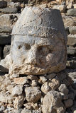 Stone head. Big stone head on the mount Nemrud in Turkey Royalty Free Stock Image