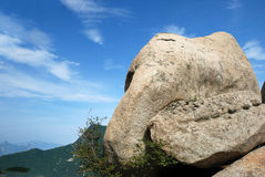 Big stone in  huashan Royalty Free Stock Image