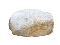 Big stone isolated on white Royalty Free Stock Images