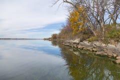 Big Stone Lake In Autumn Stock Photography