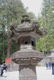 Big stone lanterns in Nikko Royalty Free Stock Photo