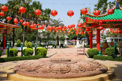 Big stone lotus Royalty Free Stock Image