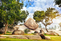 Big stone in Mamallapuram Stock Photos