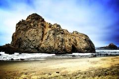 Big stone at pfeiffer beach Royalty Free Stock Image