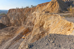 Big stone quarry in Serbia Royalty Free Stock Photo