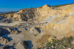 Big stone quarry in Serbia Royalty Free Stock Photos
