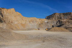 Big stone quarry in Serbia Royalty Free Stock Photography