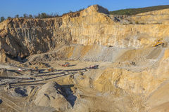 Big stone quarry in Serbia Royalty Free Stock Image