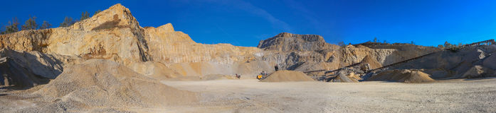Big stone quarry in Serbia Stock Photography