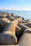 Big stone in the sea Royalty Free Stock Image