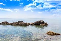 Big stone at seaside Stock Image