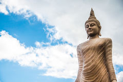 Big Stone Statue of Buddha. In Thailand Royalty Free Stock Photography