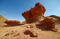 Big stone in Timna Park, Negev desert, Israel. Stock Images