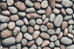 Big stone wall. Stone texture. Big stones in a wall. Texture. Brown, grey, shades of grey Royalty Free Stock Image