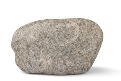 Big stone on white background.3D illustration. Big stone on white background. 3D illustration Royalty Free Illustration