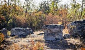 A canyon stones. Big stones at Arbuzinskiy Canyon, Nikolaev region, Ukraine Stock Photography