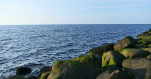 Big stones at Baltic sea stock video