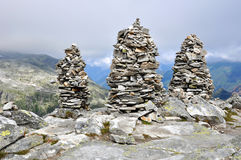 Big stones cairns Royalty Free Stock Images
