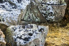 A big stones. Close-up a large stone at the mountain Stock Photo