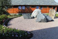 Big stones in the garden Stock Image