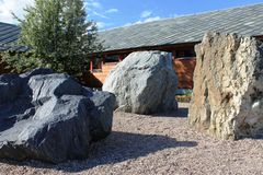 Big stones in the garden Royalty Free Stock Image