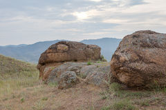 The big stones a hill. Royalty Free Stock Photos