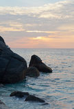 Big stones on an ocean coast Royalty Free Stock Photography