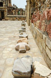 Big stones at old ancient building structure Royalty Free Stock Image