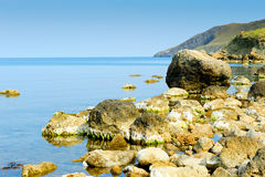 The big stones on sea coast Stock Photography