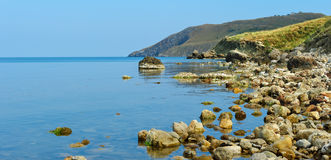 The big stones on sea coast Royalty Free Stock Photography