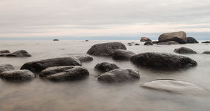 Big stones in sea stock photos