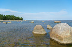 Big stones in water. Royalty Free Stock Photos