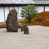 Big stones in zen garden Stock Images