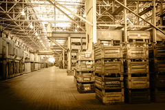 Big storage room with metal boxes Stock Images