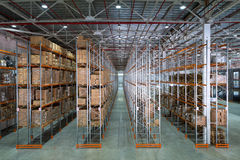 A big storage room Royalty Free Stock Image