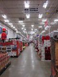 A big store decorated for christmas products royalty free stock image