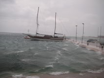 Big storm. Storm in Dalmatia, in the city of Omis Royalty Free Stock Photos