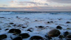 Big storm in the Arctic Ocean stock video footage