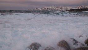 Big storm in the Arctic Ocean stock footage