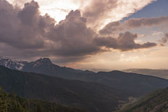 Big storm clouds over the mountains in the spring. Tatra mountai Royalty Free Stock Photos