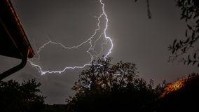 Big storm in the night. In france stock photography