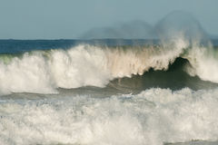 Big storm waves. In the ocean Royalty Free Stock Image